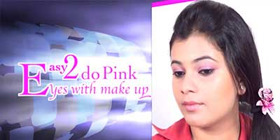 Easy To Do Pink Eyes With Makeup Do it Yourself KhoobSurati.com