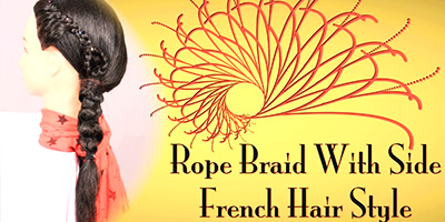 Rope Braid With Side French Hair Style – Do it Yourself | KhoobSurati.com