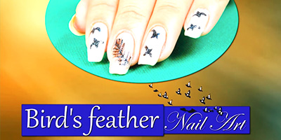 Bird's Feather Nail Art Do it Yourself KhoobSurati.com