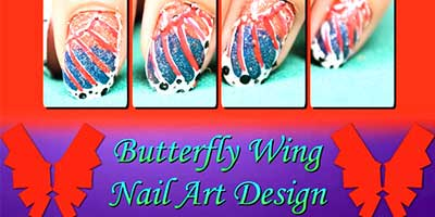 Butterfly Wing Nail Art Design – Do it Yourself | KhoobSurati.com