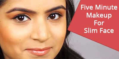 Five Minute Makeup For Slim Face By khoobsurati.com