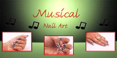 Musical Nail Art Design – Do it Yourself | KhoobSurati.com