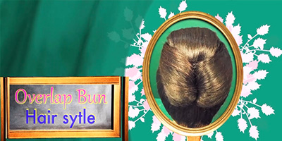 Overlap Bun Hair Style – Do it Yourself | KhoobSurati.com