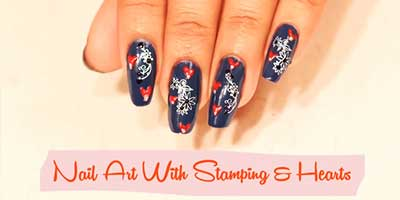 Stamping Nail Art With Heart – Do it Yourself | KhoobSurati.com