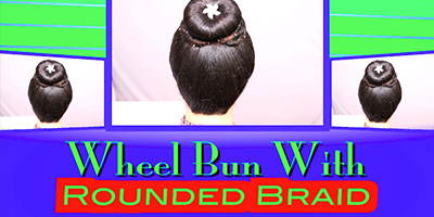 Wheel Bun With Rounded Braid By Khoobsurati.com